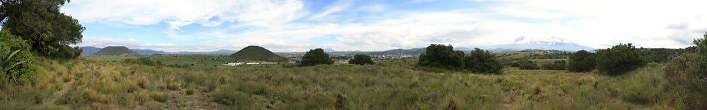 Panoramic. View of Serdan Valley, also called el Granero de México Royalty Free Stock Images