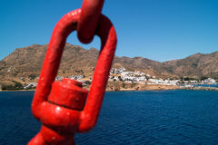 Panoramic view of Serifos island Royalty Free Stock Images
