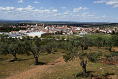 Panoramic View of Serpa, Portugal Stock Photos