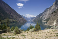 Panoramic View of Seton Lake Stock Image
