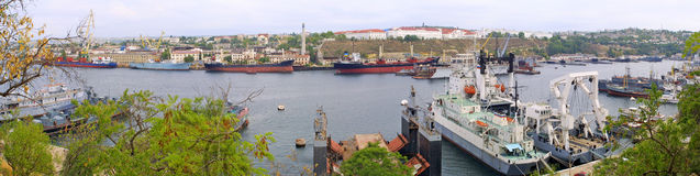 Panoramic view of Sevastopol Bay Stock Photography