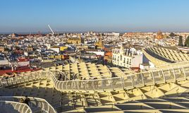 Panoramic view Of Sevilla  from the Metropol Parasol Stock Images