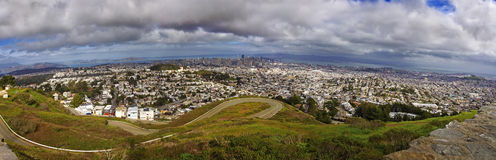 Panoramic View of SFO City USA Stock Photos