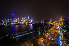 Panoramic view of shanghai ,China Stock Photos