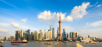 Panoramic view of shanghai skyline Royalty Free Stock Photography