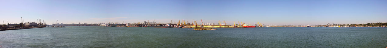 Panoramic view of the ships Royalty Free Stock Image