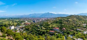 Panoramic view at Shkodra city royalty free stock images