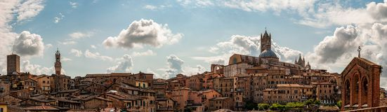 Panoramic view of Siena stock photography