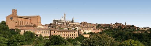 Panoramic view of Siena, Italy Royalty Free Stock Images