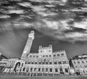 Panoramic view of Siena, Italy Stock Photography
