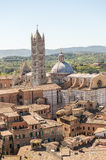 Panoramic view of Siena, Italy Stock Images