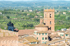 Panoramic view of Siena, Italy Stock Image