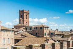 Panoramic view of Siena, Italy Stock Photos