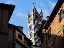 A church in Siena, Italy stock photography