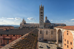 Panoramic view on Siena, Toscana, Italy Royalty Free Stock Photos