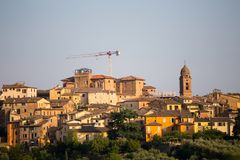 Panoramic view of Siena, Tuscany, Italy. Royalty Free Stock Image