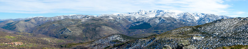 Panoramic view of sierra de Gredos Royalty Free Stock Photography