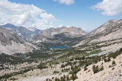 Panoramic View of  the Sierra Nevada Mountains Stock Images