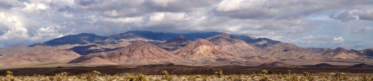 Panoramic view of Sierra Nevada. Sierra Nevada Panorama in California, usa Stock Photography
