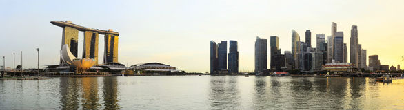 Panoramic view of Singapore Royalty Free Stock Image