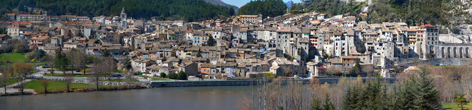 Panoramic view of Sisteron - Alpes-de-Haute-Provence - France Stock Images