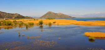Panoramic view of Skarad lake on summer Royalty Free Stock Images