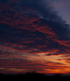 Panoramic view of the sky with clouds  dawn. Royalty Free Stock Photo