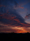Panoramic view of the sky with clouds  dawn. Stock Images