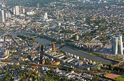 Panoramic view of Skyline Frankfurt, Germany Royalty Free Stock Images