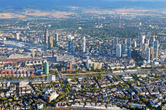 Panoramic view of Skyline Frankfurt/Main Royalty Free Stock Images