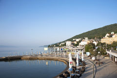 Panoramic view of small Mediterranean town Stock Images