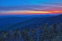 Panoramic View of Smoky Mountains National Park Stock Images
