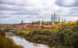 Panoramic view of the Smolensk city Royalty Free Stock Photos