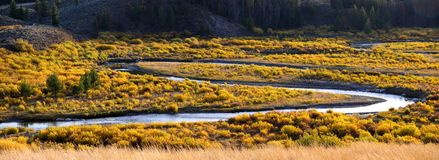 Panoramic view of Snake River Stock Photos