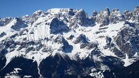 Panoramic view snow mountain. Panoramic view of snow mountain stock footage