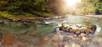 Panoramic view of Sochi river Royalty Free Stock Photos