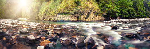 Panoramic view of Sochi river Royalty Free Stock Images