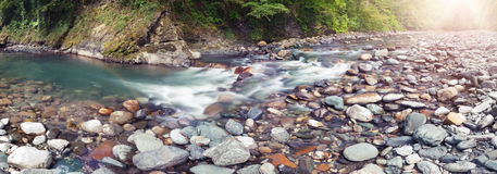 Panoramic view of Sochi river Stock Image