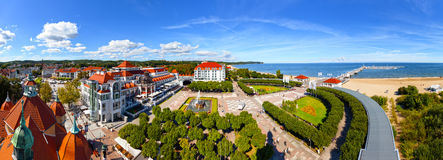 Panoramic view of Sopot city, Poland. Aerial view of the beautiful architecture of Sopot, Poland stock images