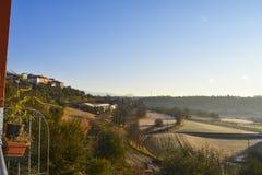 Sotto casa soprazzocco. Panoramic view from soprazzocco on the lake of garda italy Stock Photos