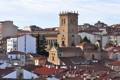 Panoramic view of Soria (Spain). Panoramic view of Soria, Castile-Leon (Spain royalty free stock photos