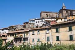 Panoramic view of Soriano nel Cimino. Lazio. Italy. View of Soriano nel Cimino. Lazio. Italy Royalty Free Stock Photo