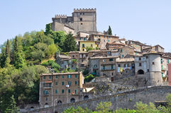 Panoramic view of Soriano nel Cimino. Lazio. Italy. View of Soriano nel Cimino. Lazio. Italy Royalty Free Stock Photos