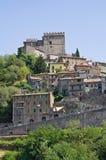 Panoramic view of Soriano nel Cimino. Lazio. Italy. View of Soriano nel Cimino. Lazio. Italy Royalty Free Stock Images