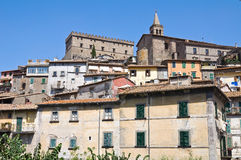 Panoramic view of Soriano nel Cimino. Lazio. Italy. View of Soriano nel Cimino. Lazio. Italy Stock Photo