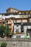 Panoramic view of Soriano nel Cimino. Lazio. Italy. Stock Photo