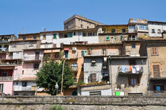 Panoramic view of Soriano nel Cimino. Lazio. Italy. View of Soriano nel Cimino. Lazio. Italy Royalty Free Stock Image