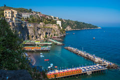 Panoramic view of Sorrento, the Amalfi Coast, Italy. Panoramic beautiful view of Sorrento, the Amalfi Coast, Italy royalty free stock photo
