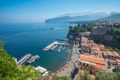 Panoramic view of Sorrento, the Amalfi Coast, Italy. Panorama of Sorrento, the Amalfi Coast, Italy Stock Photos