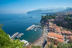 Panoramic view of Sorrento, the Amalfi Coast, Italy Stock Photos
